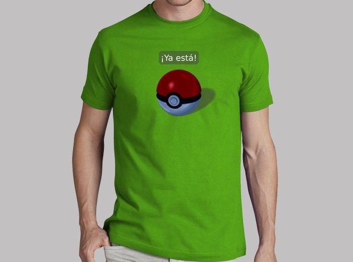 ¡Ya está en la pokeball! Pokémon atrapado. #camiseta