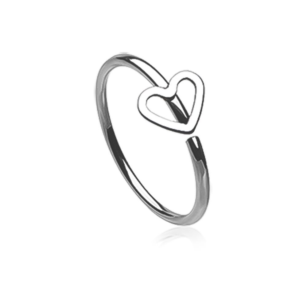 Nose piercing growing over  FreshTrends Heart CutOut Surgical Steel Bendable Hoop Nose Ring
