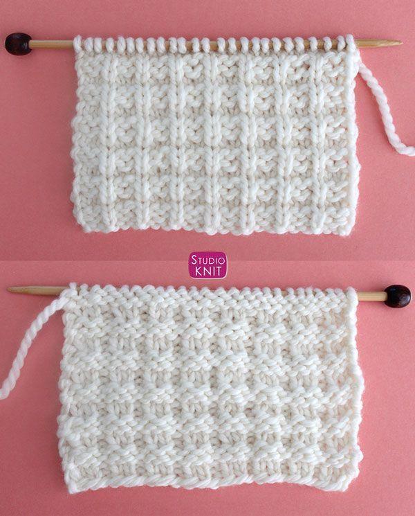 Waffle Stitch Knitting Pattern   Studio Knit