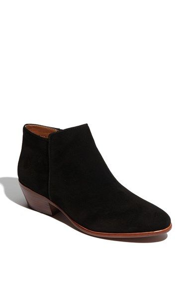 1b8a01b814f1 Sam Edelman  Petty  Bootie. Supple leather shapes a low-profile bootie with  a slight stacked heel.