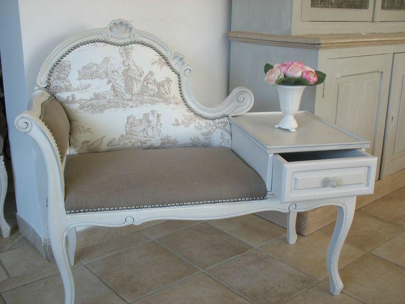 banquette telephone shabby shabby chic pinterest. Black Bedroom Furniture Sets. Home Design Ideas