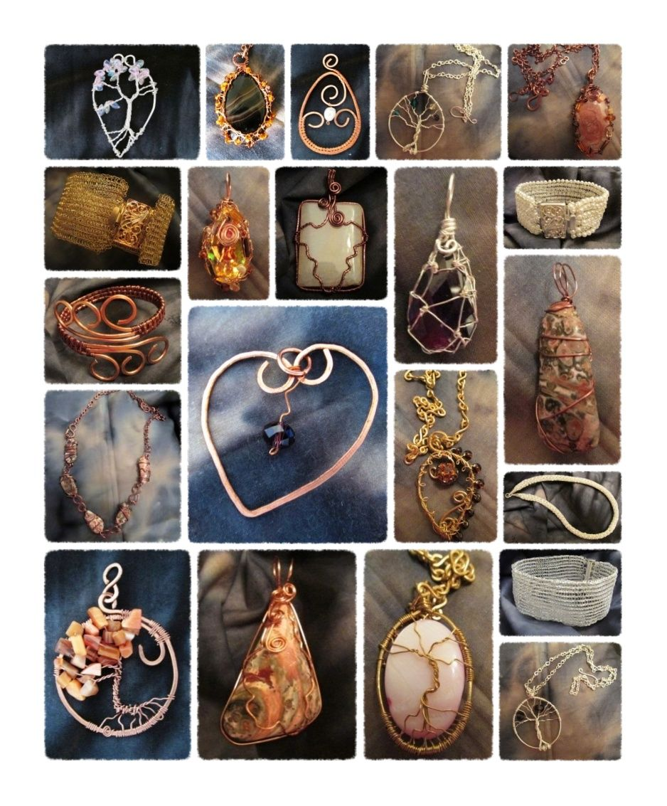 Handmade jewelry designs. Can be purchased at https://www.etsy.com/shop/BlessingsbyMelissa?ref=hdr_shop_menu