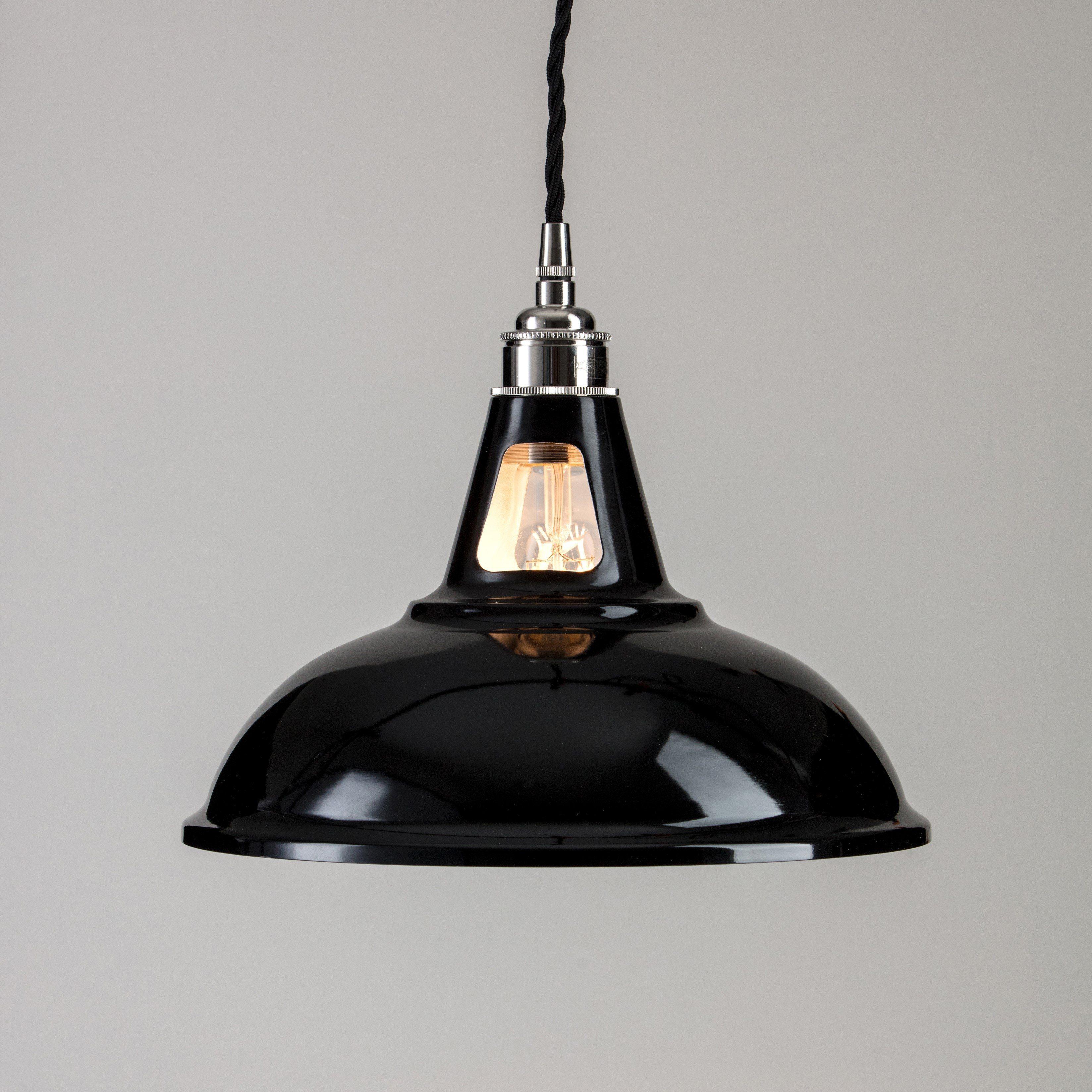 Factory Pendant Light Black Grace Glory Our Lighting