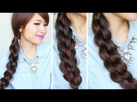 3D Split Twist Braid Hairstyles Hair Tutorial YouTube