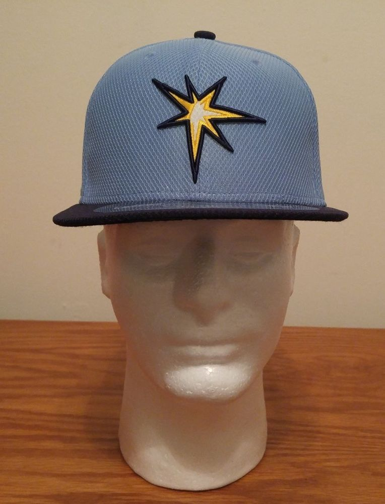 New Era 59Fifty Tampa Bay Rays MLB Baseball Hat Cap YOUTH Kids 6 5/8 Fitted TB #NewEra #TampaBayRays
