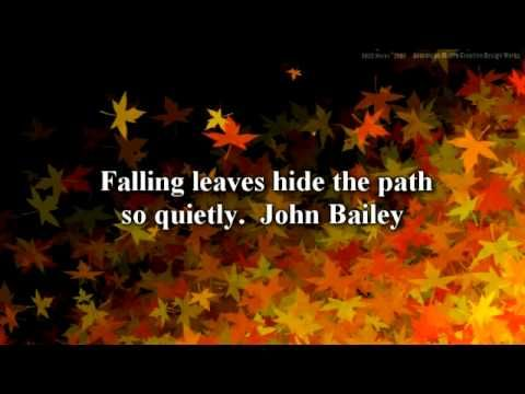 Superb Inspirational Autumn Quotes Video: Fall Leaves