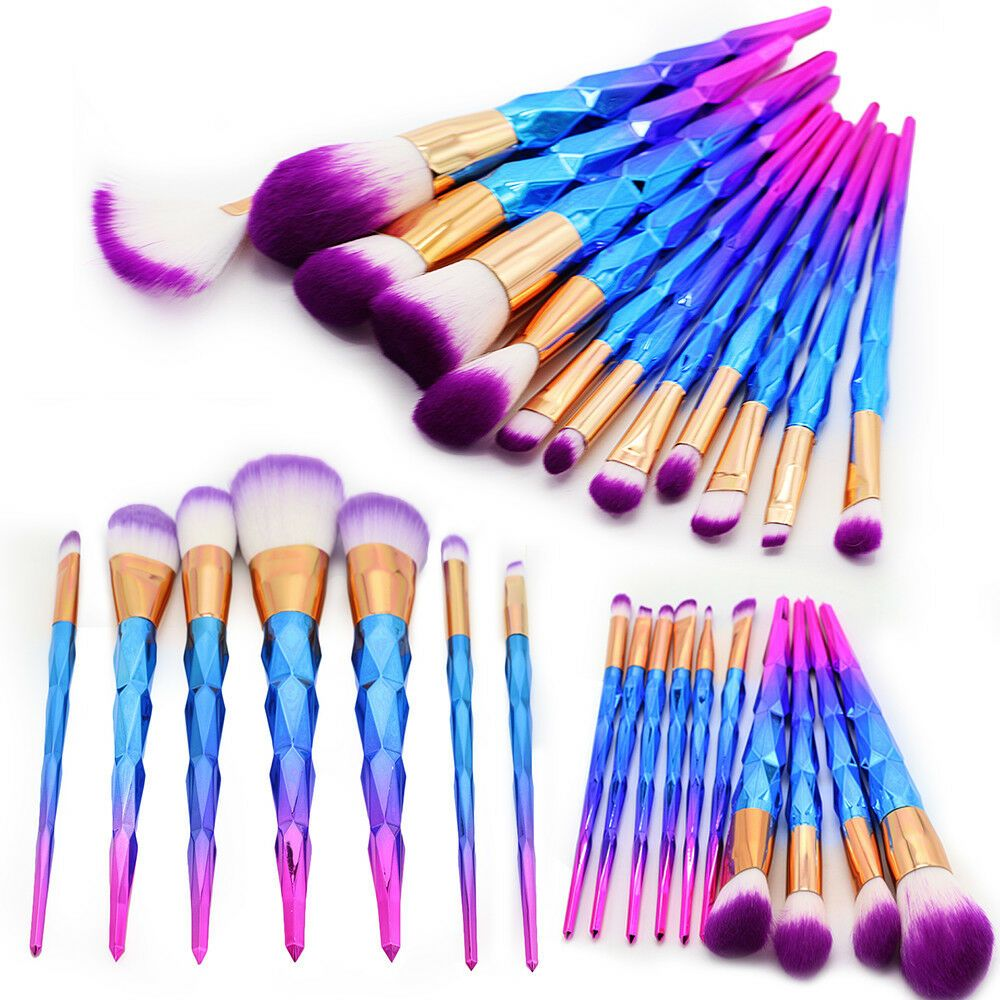 12pcs Unicorn Mermaid Makeup Brushes Foundation Set