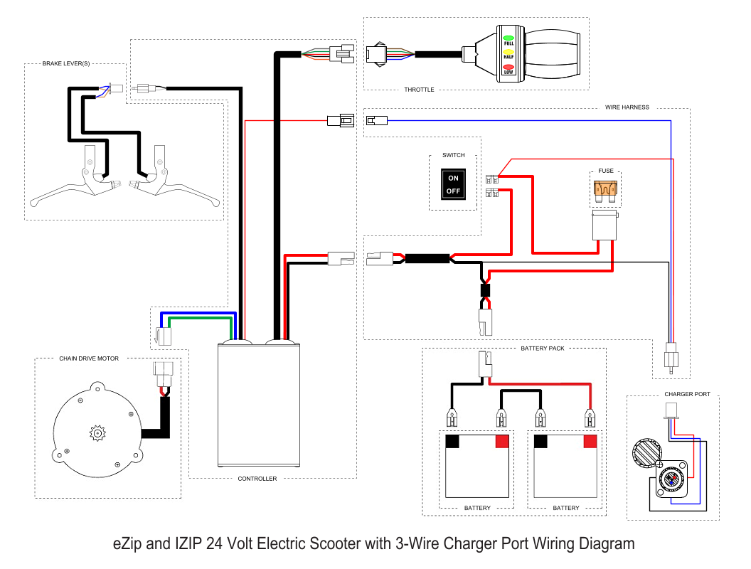 on rascal chauffeur scooter wiring diagram