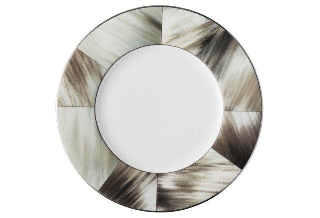 Gwyneth Bread Plate w/ Platinum