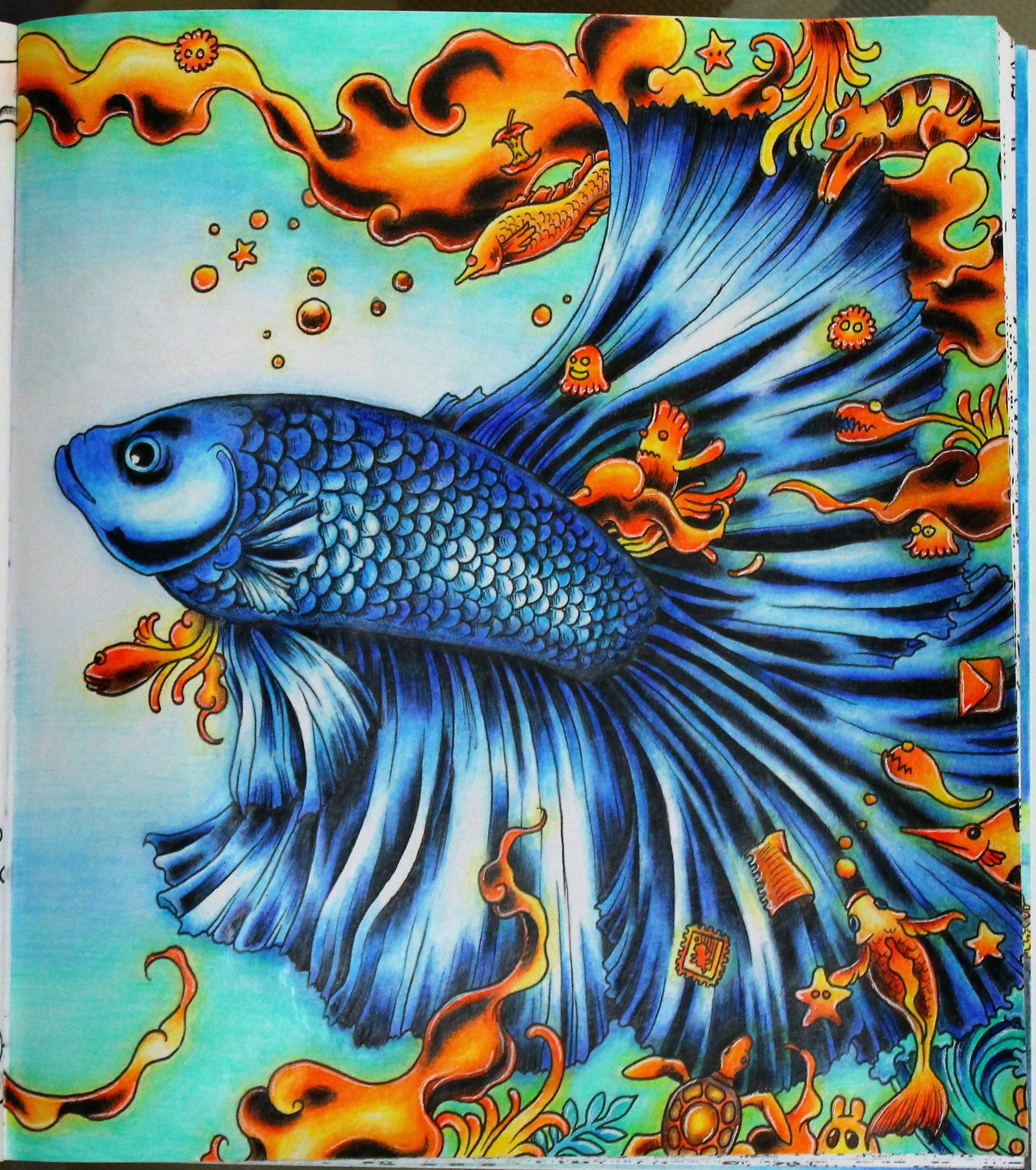 Animorphia Kerbyrosanes Giotto Art Fish Bettasplendens Coloring Coloringbook