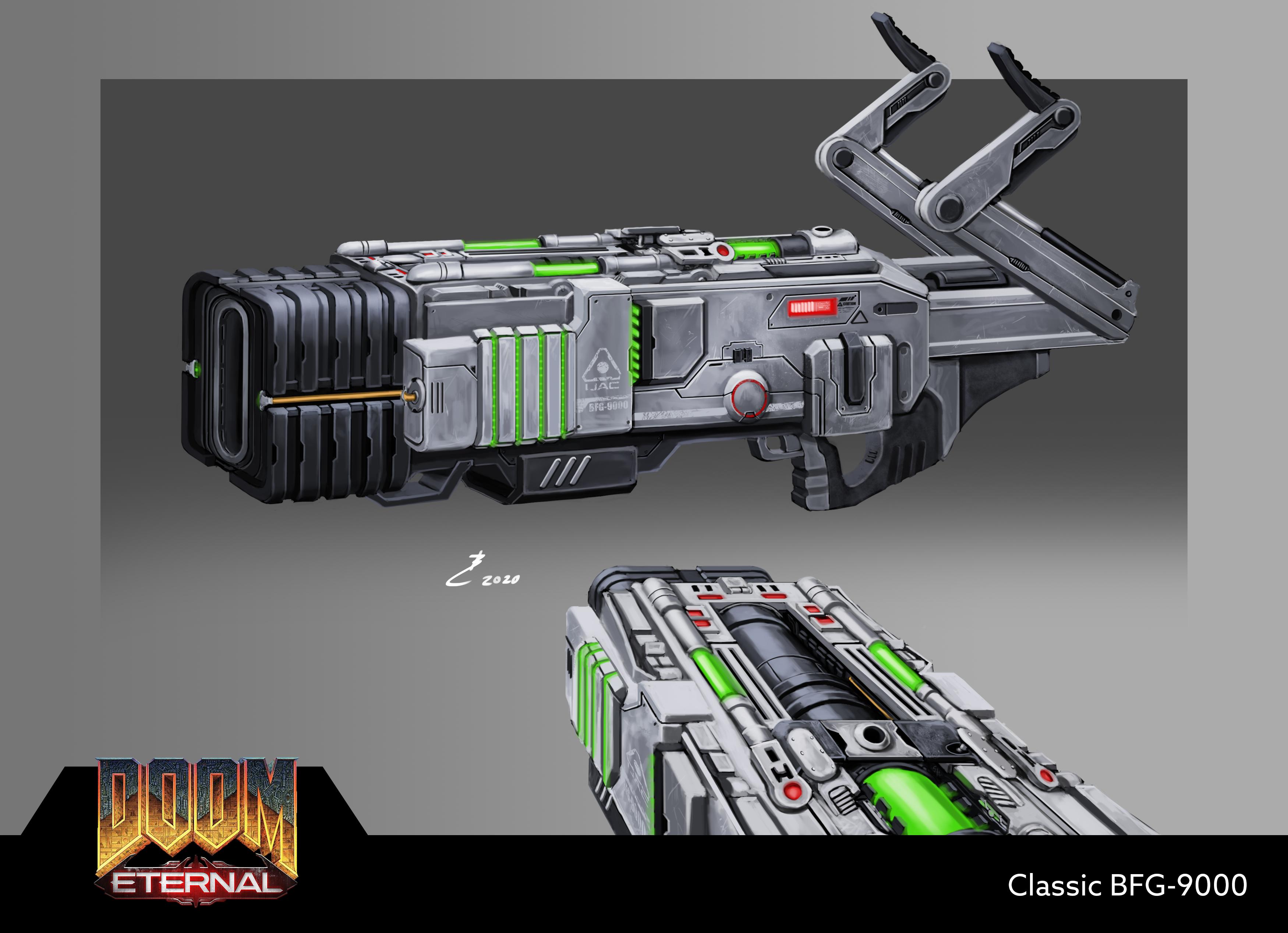 Doom 64 Bfg 9000 Fan Art Doom Slayer Meme Bfg