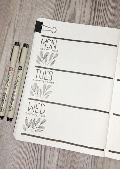Femina | 10 idées colorées pour remplir notre nouveau Bullet Journal #bulletjournaloctobre