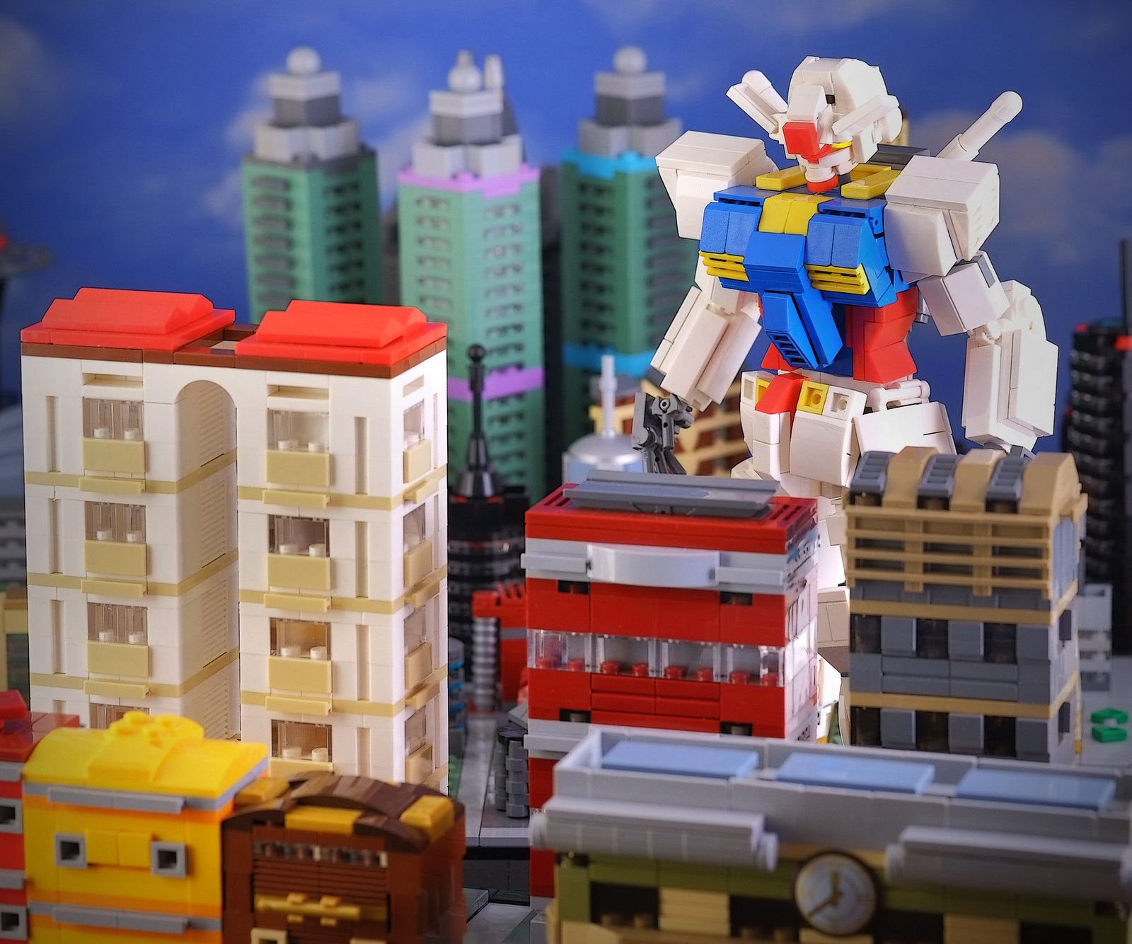 Gundam in microcity! in 2020 (With images) Gundam, Lego