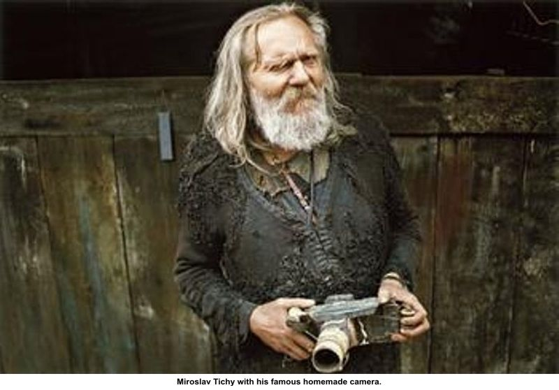 artwork: Miroslav Tichy with his famous homemade camera.