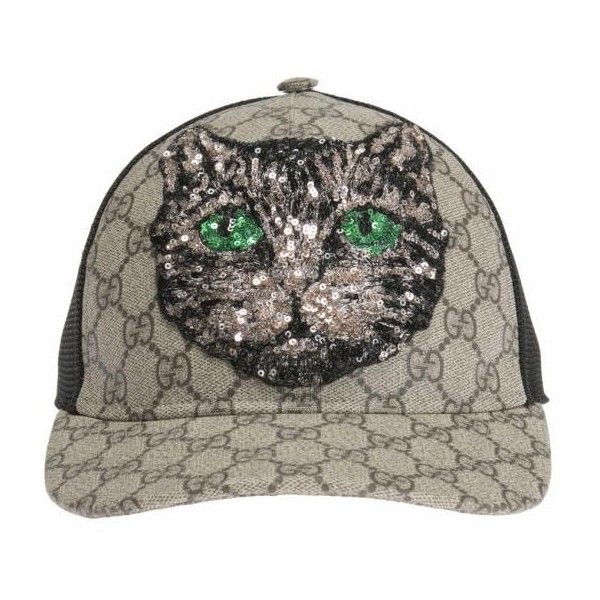ebf27a25 Gucci Sequinned baseball cap ($774) ❤ liked on Polyvore featuring  accessories, hats, baseball caps, print hats, sequin baseball cap, pattern  hats and ...