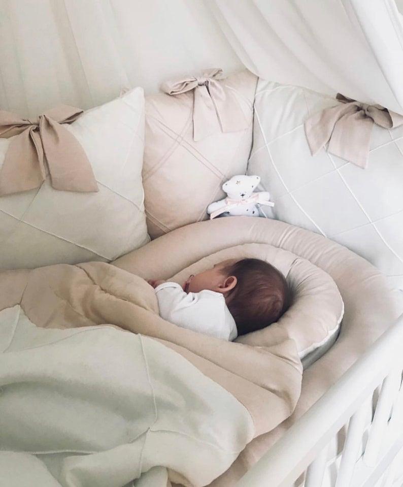 Baby Crib Bumper And Bedding Setcrib Bumper Pillowstoddler Etsy In 2020 Baby Crib Bumpers Crib Bumper Toddler Bed Set