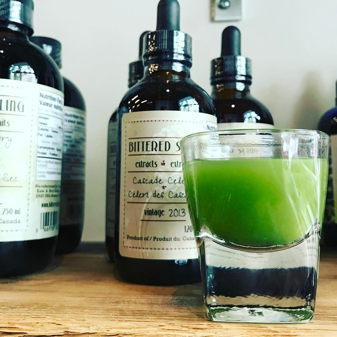 Zairai Booster! Hayashi San's Zairai green tea and a touch of honey. Particularly refreshing with @bittered_sling Cascade Celery. #energybooster #singlecultivar #greenteashot