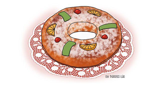 Gourmet Mi Petit Madrid El Roscon De Reyesla Digestion De La Navidad Rey Animado Dibujos Dibujos Para Ninos