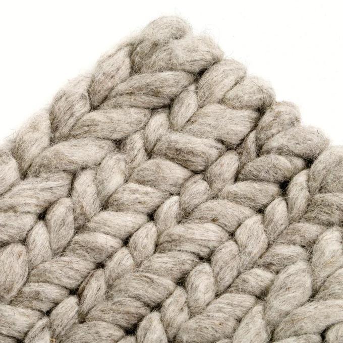 Alfombra 100% lana, diano, efecto tricot La Redoute