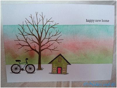 one layer new home card.