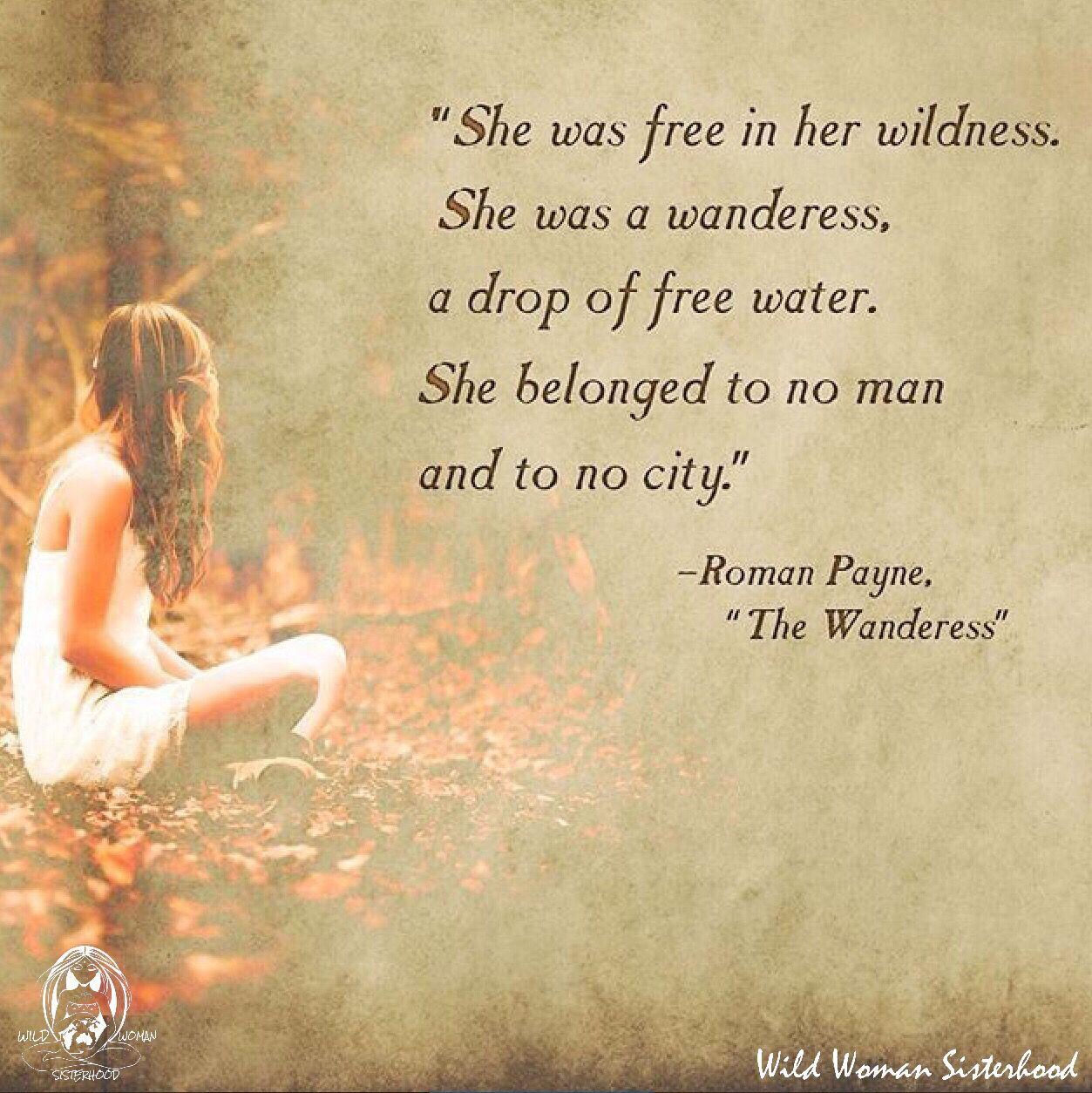 Elle était libre dans Son Sauvagerie Elle était une Wanderess, A Drop-2823
