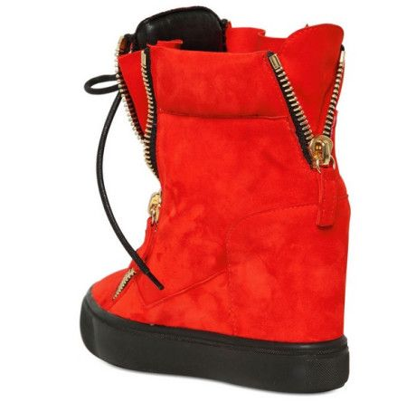 Giuseppe Zanotti 90mm Suede High Top Sneakers in Red | Lyst
