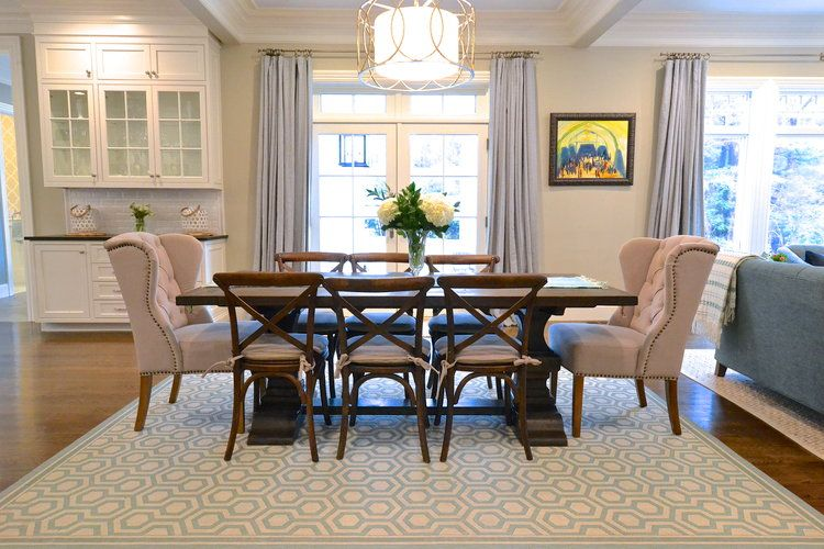 Modern coastal dining room restoration hardware xback chairs
