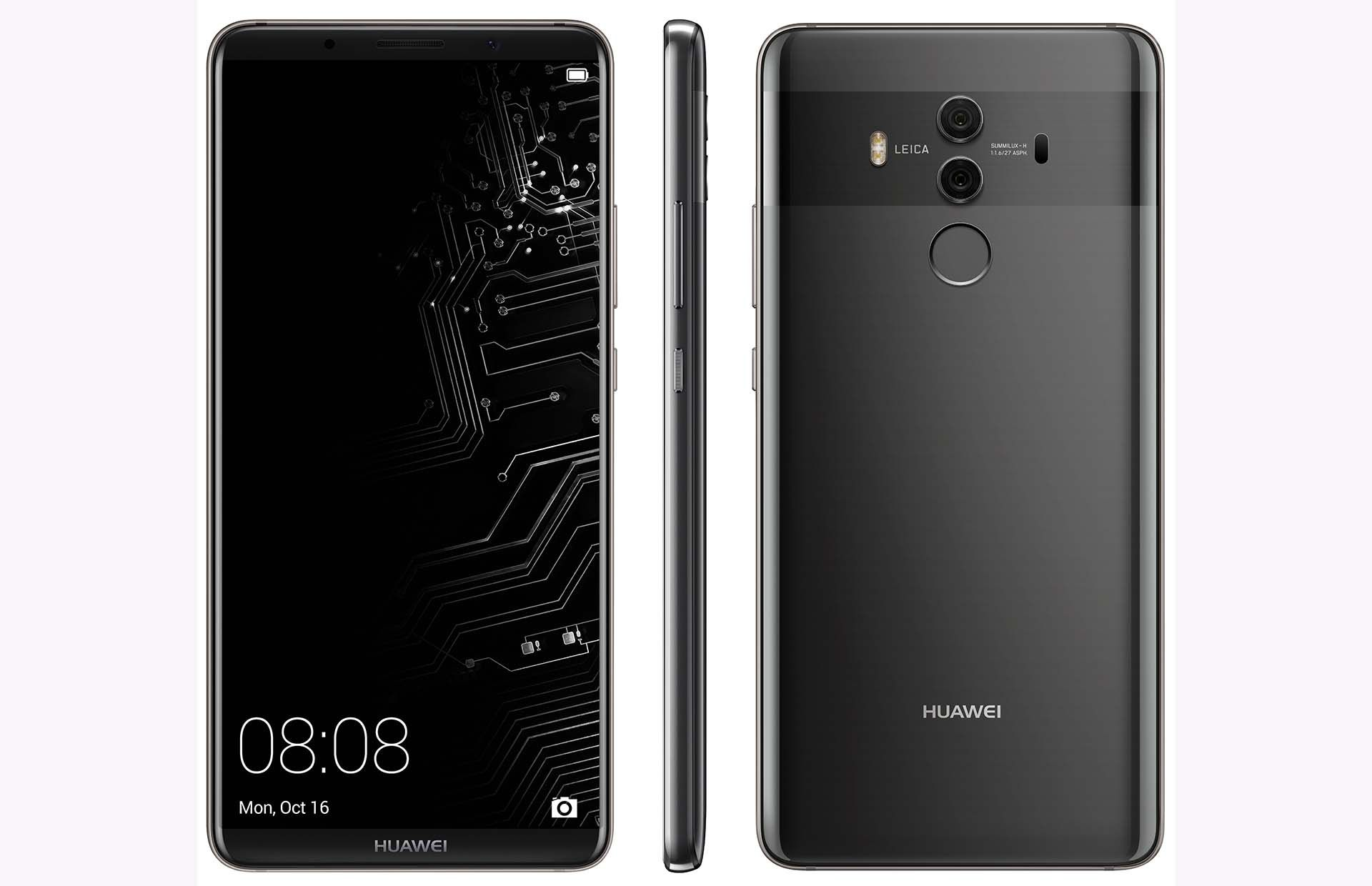 Huawei Mate 10 Pro Android Flagship Leaks In A Hi Res Render Huawei Mate Huawei Phone
