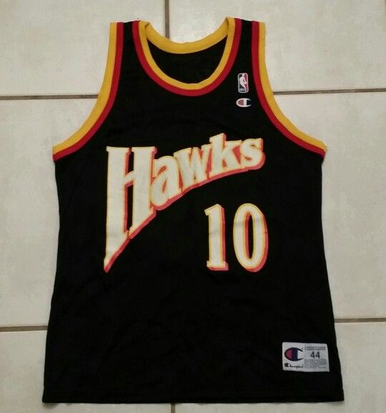 dc0ac1d7fc7 Rare Vintage CHAMPION Atlanta Hawks Mookie Blaylock NBA Jersey ...