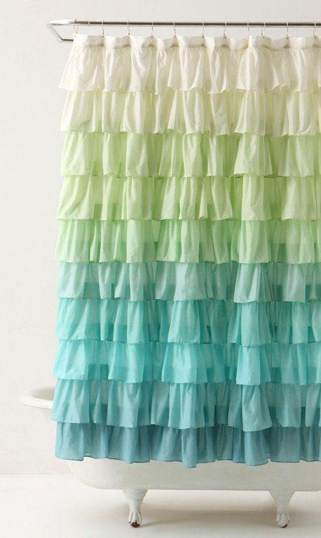Duschvorhang - Duschvorhangs, das Aussehen eines Badezimmers ...
