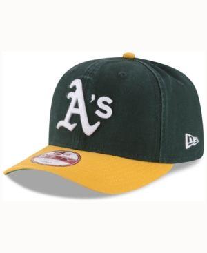 95621203 New Era Oakland Athletics Vintage Washed 9FIFTY Snapback Cap - Green  Adjustable