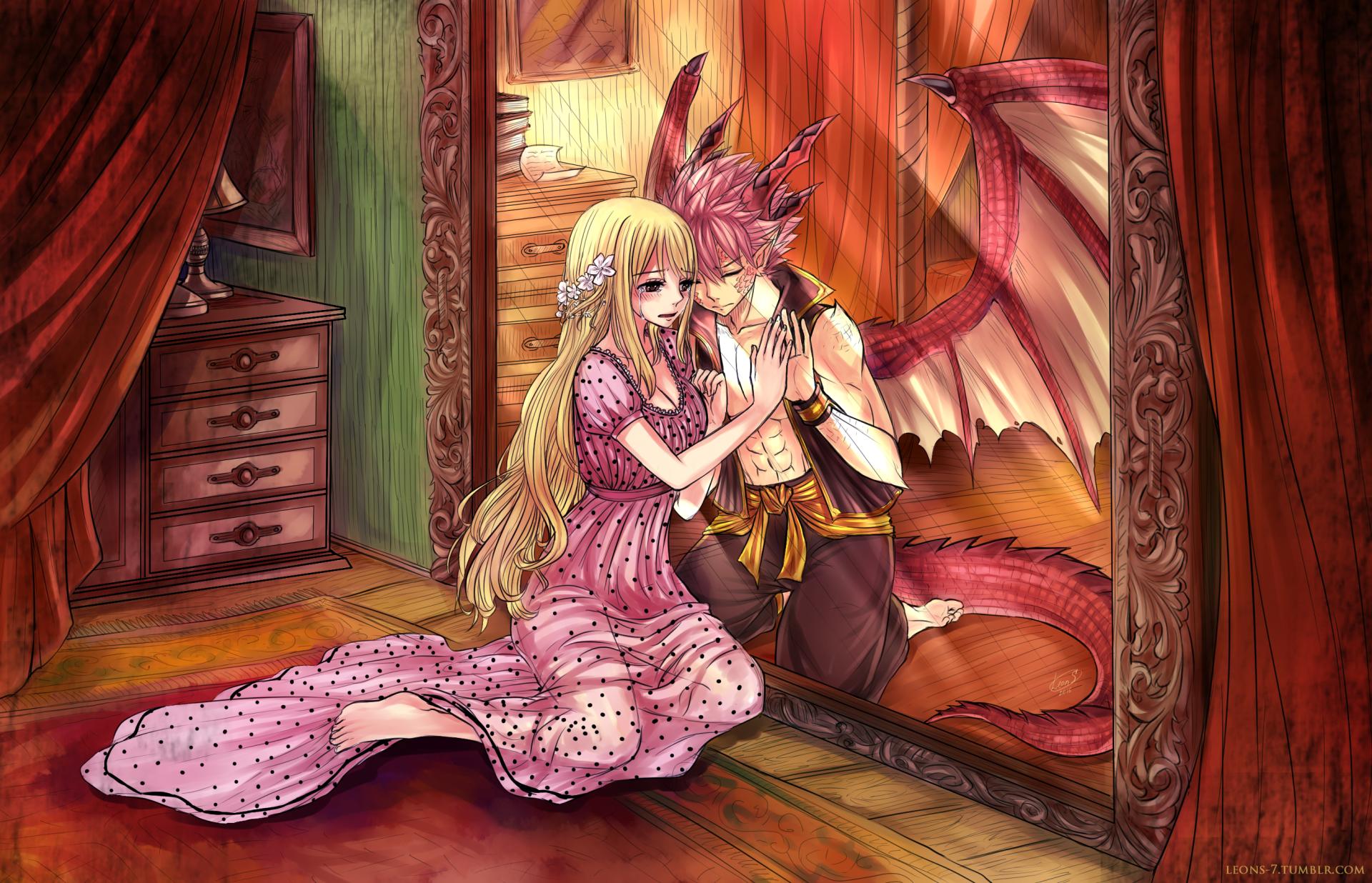 Anime Fairy Tail Natsu Dragneel Lucy Heartfilia NaLu