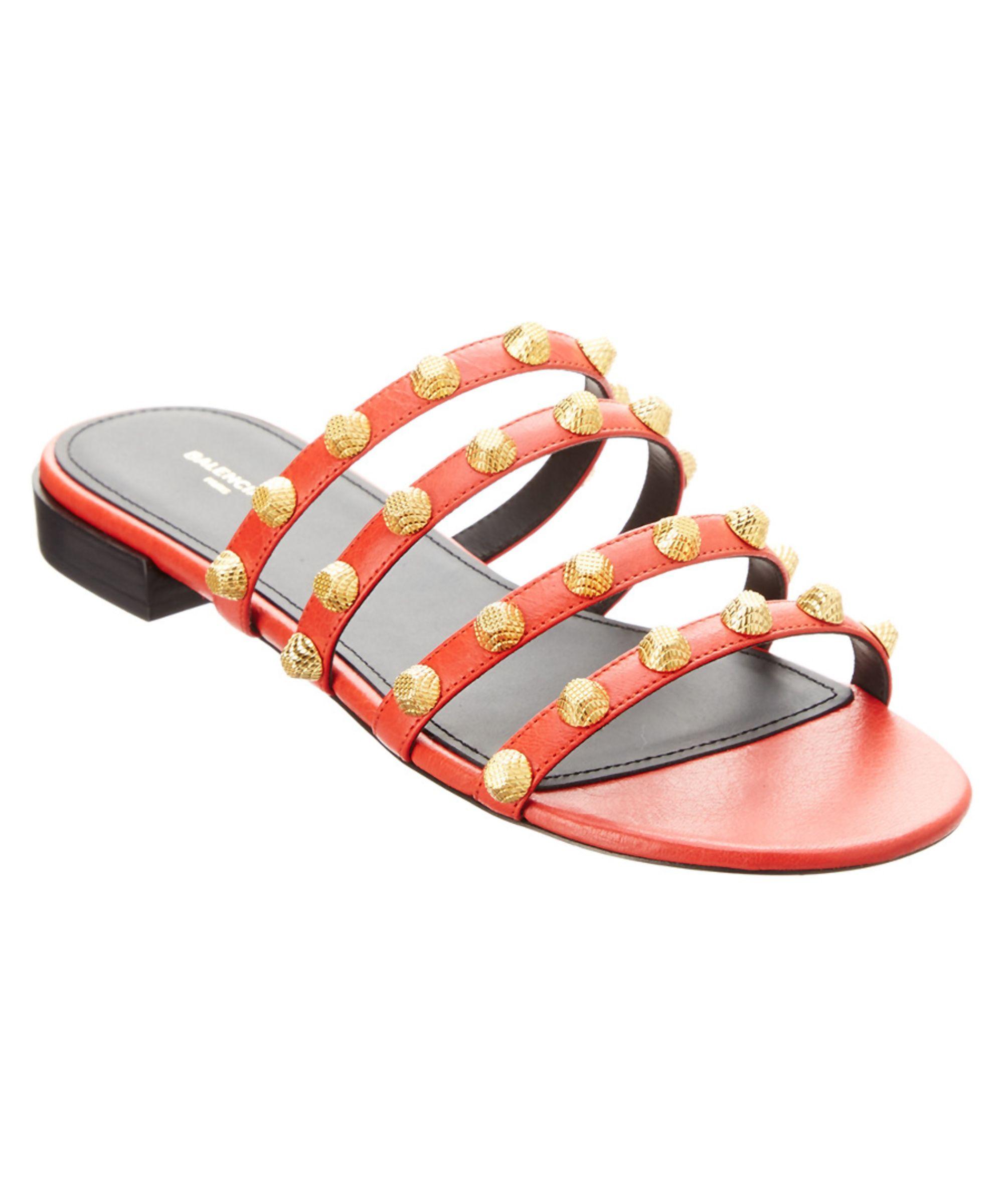 49bf2d7ec BALENCIAGA | Balenciaga Arena Studded Leather Flat Sandal #Shoes #Sandals  #BALENCIAGA