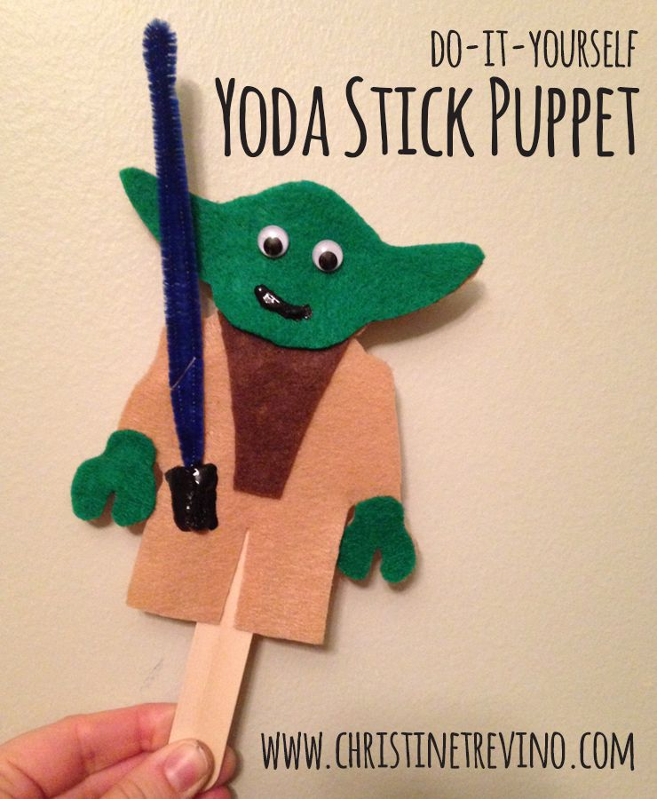 Do It Yourself Yoda Stick Puppet Lego Star Wars Dolls And Puppets