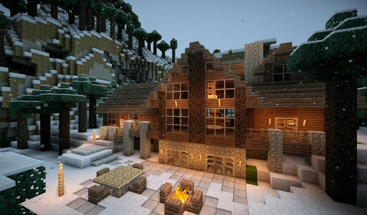 Minecraft Winter House Google Search Minecraft Hus Logs
