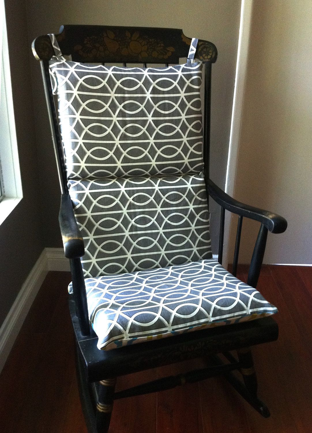 Glider Rocking Chair Cushion Pattern Reclining Outdoor Chairs Canada Cover Looks Double Sided And Easier