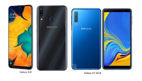 Tspn1 Samsung Galaxy A30 Vs Samsung Galaxy A7 2018 Specs Comparisons Samsung Galaxy Samsung Galaxy