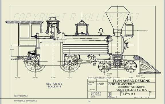 Plan - Ahead - Designs: Live Steam Locomotive model building