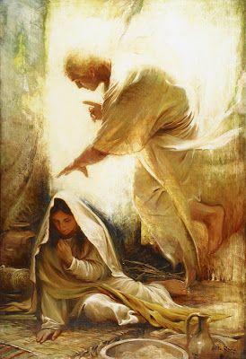 Mary And Angel Gabriel Adventcandy Blogspot Com Advent Bible Story