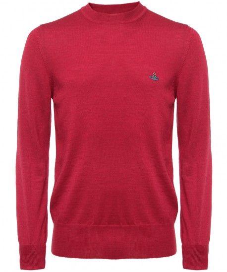 b70aa9e1f8 Vivienne Westwood Wool Crew Neck Sweater: Red | Menswear: Vivienne ...