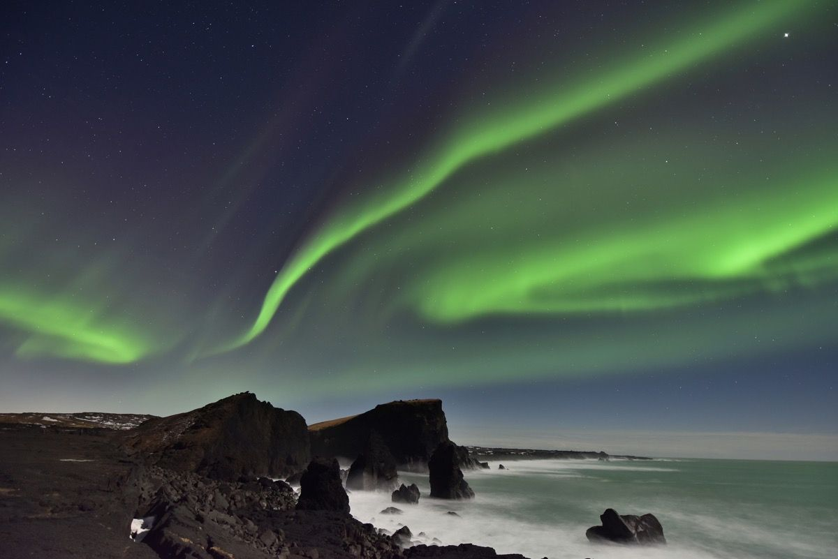 The Bright Northern Lights Of Iceland. Our Winter Wish List.