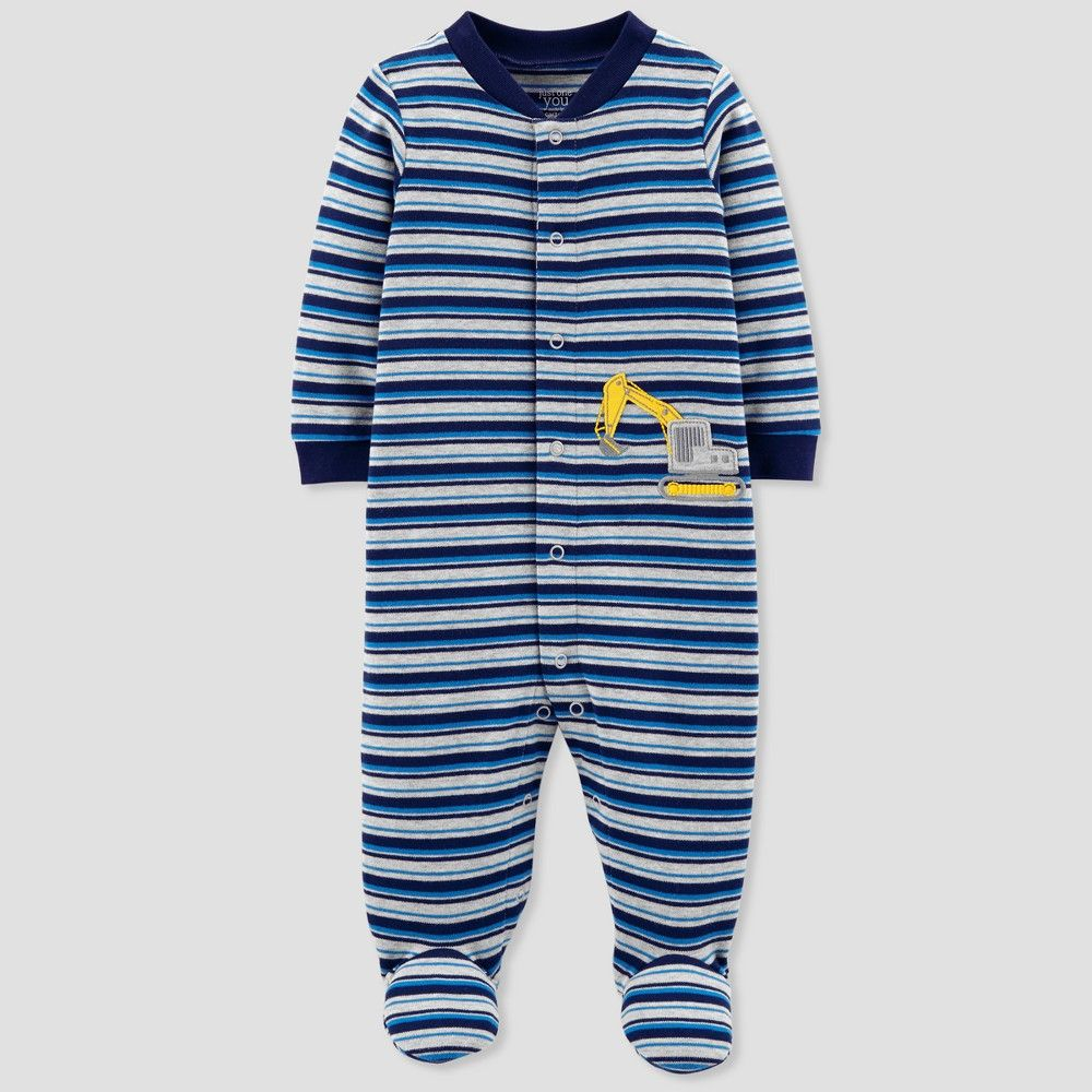 594841d3dfa3 Baby Boys  Construction Stripe Cotton Sleep N  Play - Just One You ...