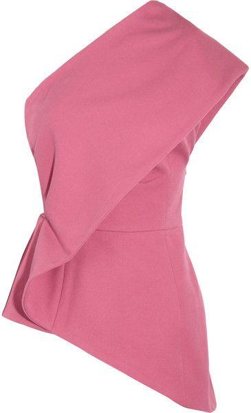 NICOLE FAHRI   Cotton Piqué One Shoulder Top - Lyst
