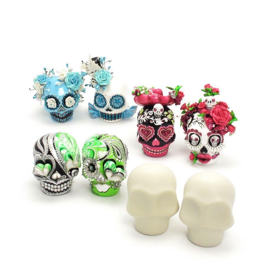 polymer clay sugar skull - Google Search | Polymer clay | Pinterest ...
