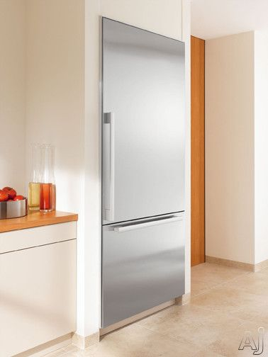 Miele Kf1801 30 Built In Fully Integrated Bottom Freezer Refrigerator With 14 86 Cu Ft Capacity 3 Adjule Gl Shelves Dual Compres