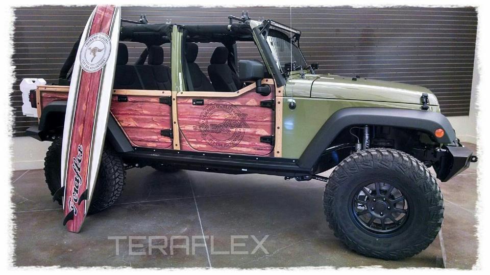 Jeep Wrangler Unlimited Half Doors 4 Door Strike Force Zebra