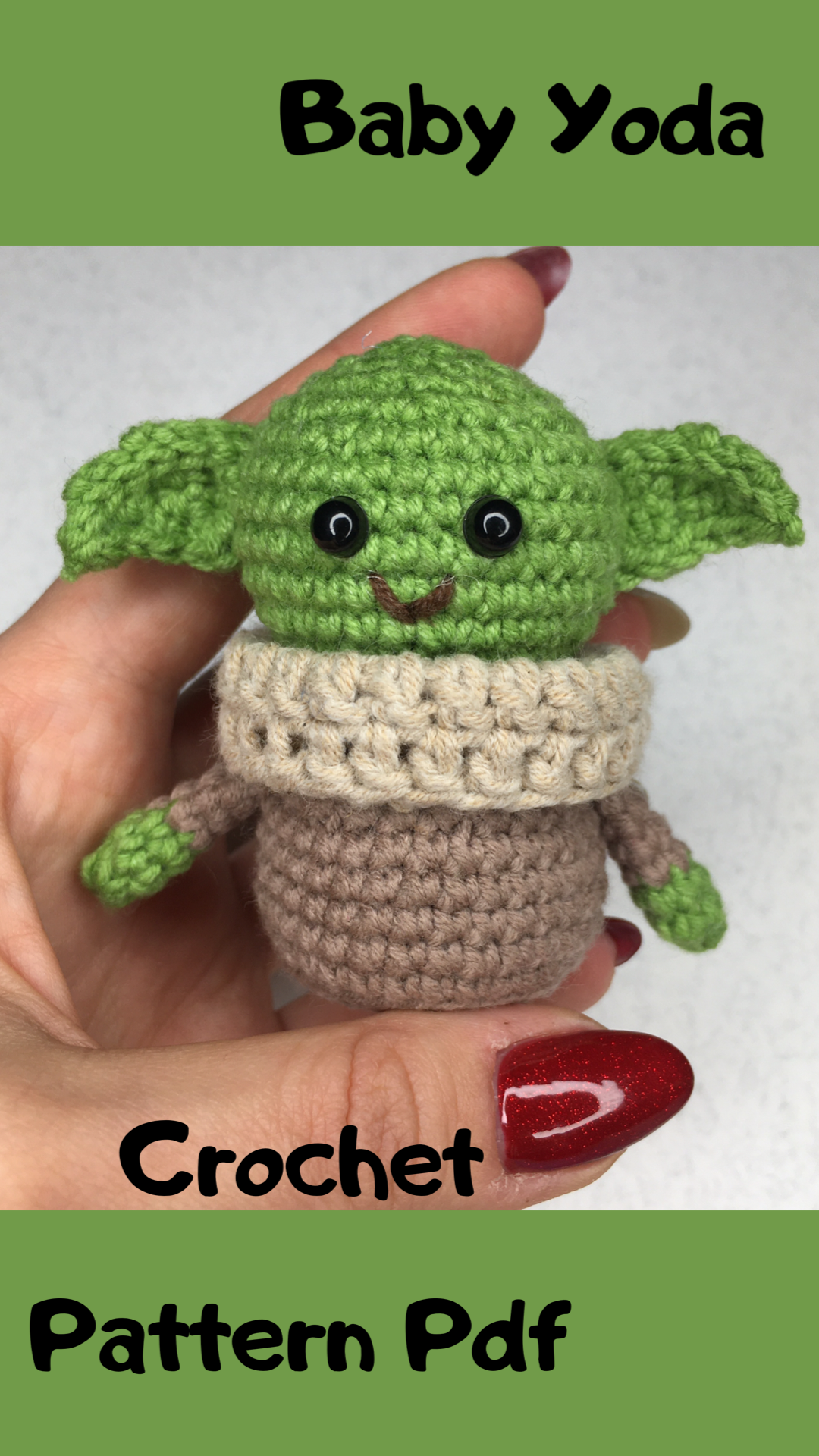 Baby yoda crochet pattern child amigurumi toy  Etsy  Baby yoda crochet pattern child amigurumi toy  Etsy