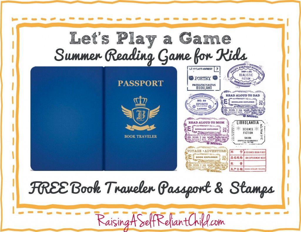 FREE Children's summer reading game. Book Travel Passport and ...
