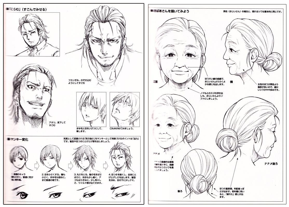 How to draw manga characters facial expressions reference book anime books