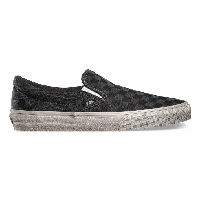 5c4dac57c9 Vans Classic Slip-On (Overwashed) Black Checker